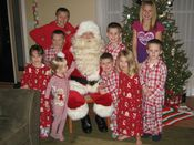 Santa with some good girls and boys!  Added 7/23/11
