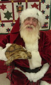 Santa and a special pet a land tortise named Shellie. Taken at the Humane Society Pet Photos Nov 17th 2012    Added 11/19/12