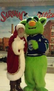Santa with Audi the Comets mascot at the Utica Comets game December 20th!  Added 12/23/13