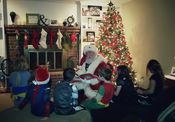 Santa reading a story to a wonderful group of children! 2015 Added 1/2/16