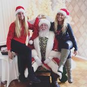 Santa with the ladies from Hawaiian tanning at Candy Cane lane 2015. Added 1/2/16