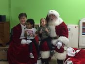 Santa and Mrs Claus at the Neighborhood center! 2015 Added 1/2/16
