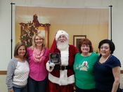 Santa with the Stevens Swan Volunteers and staff! 2015 Added 1/2/16